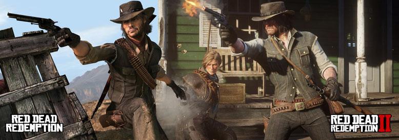 Red Dead Redemption 2 im Bildervergleich mit dem ersten Teil. Bilderquelle: Rockstar Games