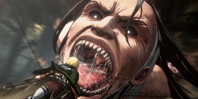 Das Actionspiel Attack on Titan 2 erscheint wohl auch für Nintendo Switch und PC im Handel. Bilderquelle: Koei Tecmo