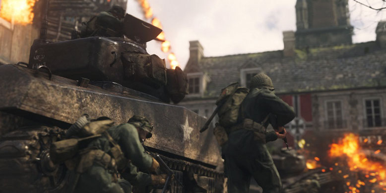 Ein neuer TV-Spot zu Call of Duty WW2 von Sony zeigt den Zweiten Weltkrieg in virtueller Form. Bilderquelle: Activision