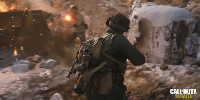 Der Entwickler Sledeghammer Games präsentiert einen neuen Story Trailer zu Call of Duty WW2. Bilderquelle: Activision