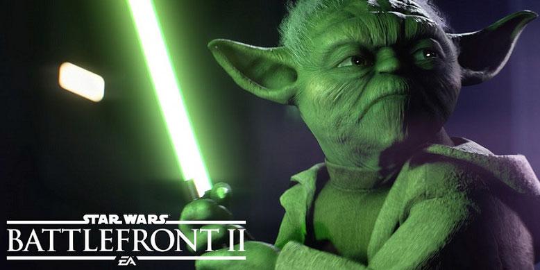 Die Fähigkeiten von Yoda in Star Wars Battlefront 2 stehen in dem neuen Gameplay-Clip im Vordergrund. Bild: Electronic Arts