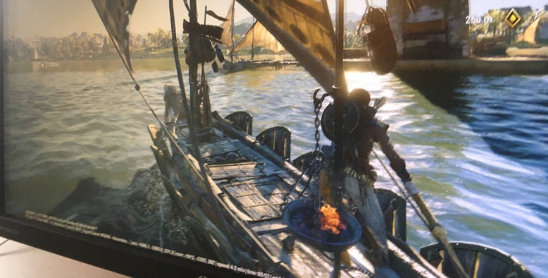 Erster Screenshot zu Assassin's Creed Origins zeigt anegblich Gameplay. Bilderquelle: Neogaf