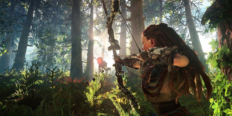 Horizon Zero Dawn Gameplay im neuen Video vom Game Informer enthüllt. Bilderquelle: Sony