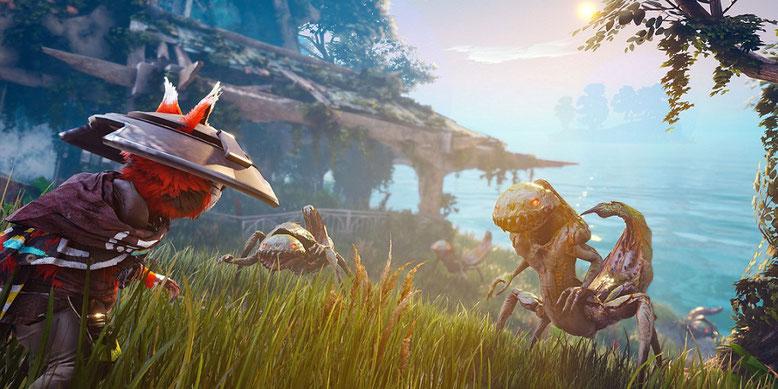 Die Gamescom 2017 befördert die erste Gameplay-Demo zu dem Action-Rollenspiel Biomutant von THQ ans Tageslicht.