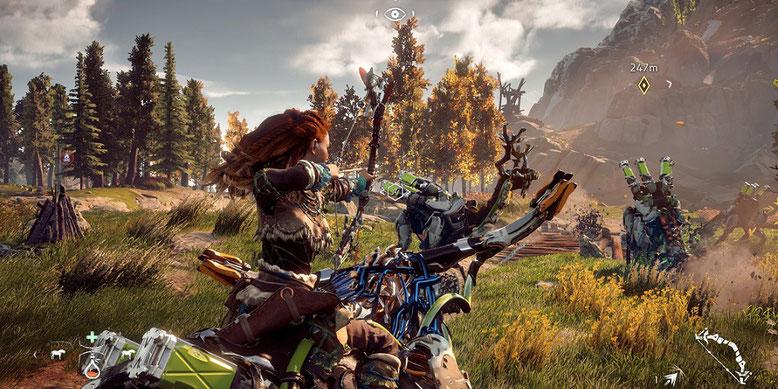 PS4 Pro 4K Gameplay Video zu Horizon Zero Dawn erschienen. Bilderquelle: Sony Interactive Entertainment