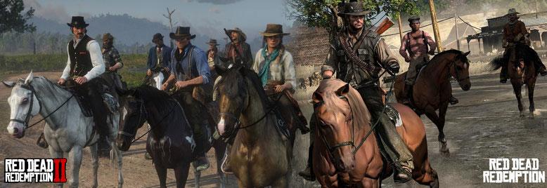 Red Dead Redemption 2 im Screenshot-Vergleich mit dem ersten Teil. Bilderquelle: Rockstar Games