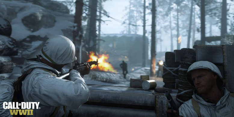 Der Weltkrieg-Shooter Call of Duty WWII erscheint am 3. November 2017 für PS4, Xbox One und PC. Bild: Activision