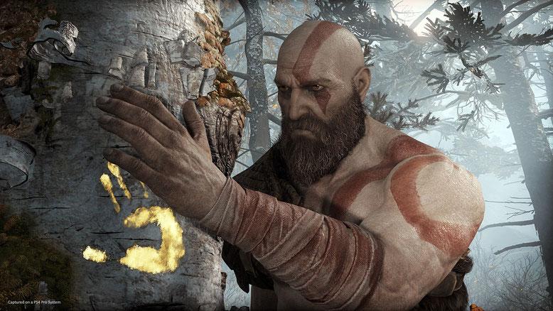 God of War für PS4 bietet laut einer neuen Preview von IGN viele emotionale Momente mit Kratos und Atreus. Bilderquelle: Sony Interactive Entertainment