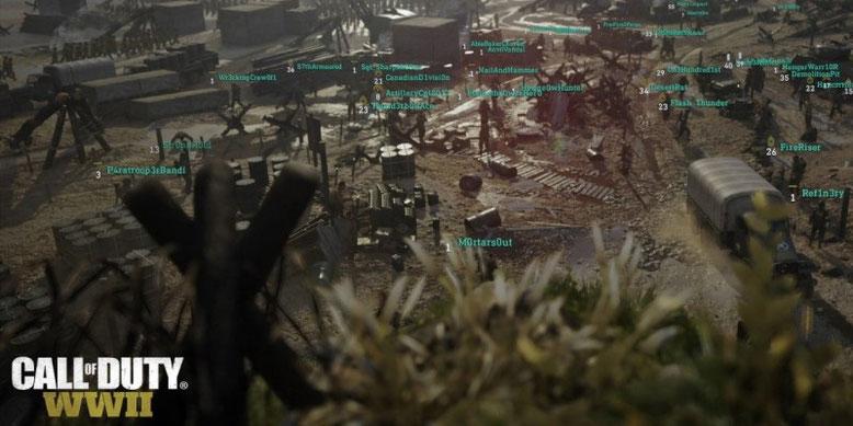Das Hauptquartier in Call of Duty WW2 hält wieder in seinem vollen Umfang Einzug in den Ego-Shooter. Bild: Activision