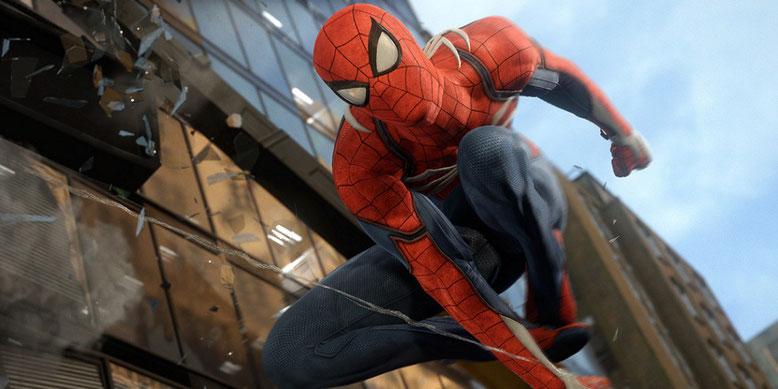 Auf der D23 Expo präsentiert Entwickler Insomniac Games ein neues Video zu Spider-Man für PS4. Bilderquelle: Sony