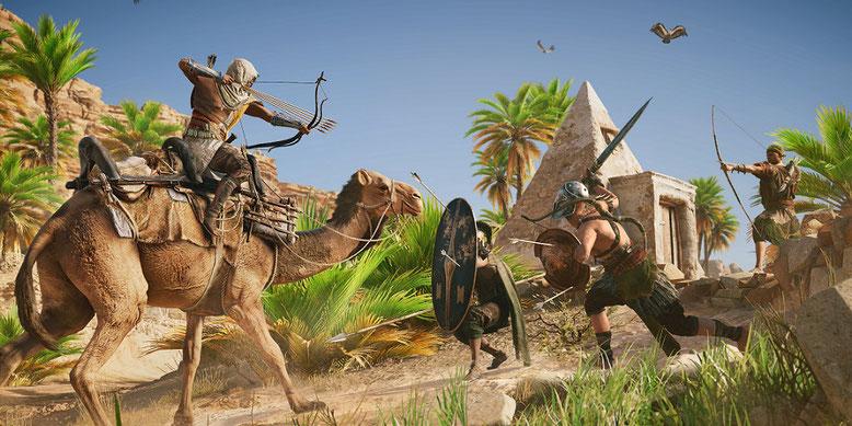 Ein frisches Video zu Assassin's Creed Origins präsentiert rund 20 Minuten Gameplay einer Nebenmission. Bild: Ubisoft
