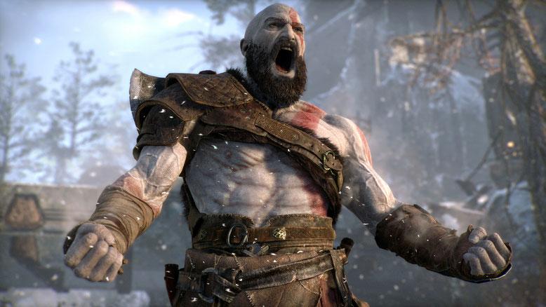 Die im Netz zu früh veröffentlichten Gameplay-Videos zu God of War für PS4 lässt der Publisher Sony Interactive Entertainment allesamt löschen. Bild: Sony