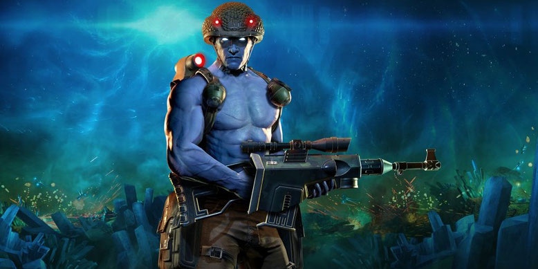 Rogue Trooper Redux zeigt sich im Gameplay-Video aus der Remaster-Version des Shooters. Bilderquelle: TickTock Games