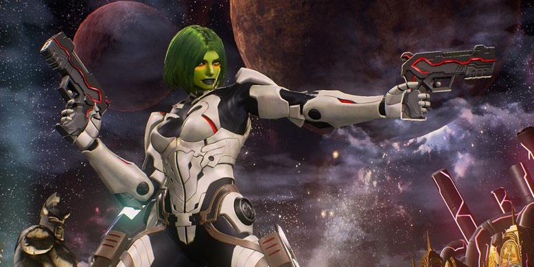 Das neue Comic-Con-Gameplay-Video zu Marvel vs. Capcom Infinite zeigt unter anderem Gamora. Bilderquelle: Capcom