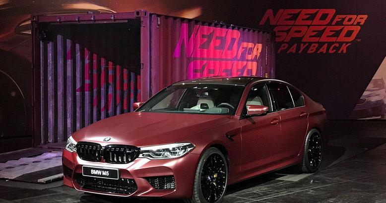 Der BMW M5 hält Einzug in das Rennspiel Need for Speed Payback, der im Gamescom-Trailer vorgestellt wird. Bild: EA