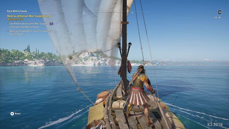 Erste Gameplay-Szenen zu Assassin's Creed Odyssey auf E3-Screenshots abgelichtet. Bilderquelle: Gematsu.com
