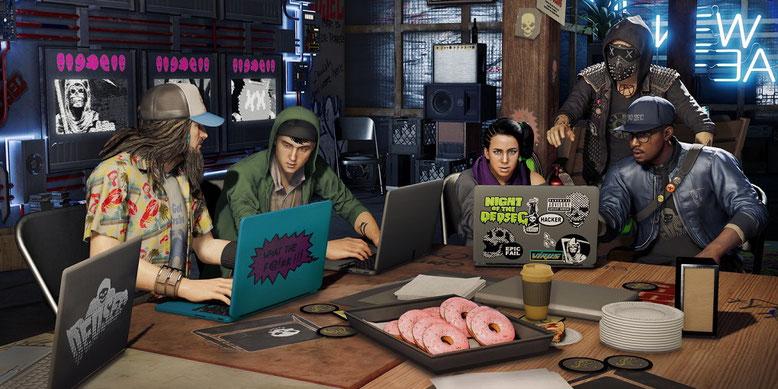 Neues Video zeigt: So gelangt ihr in Watch Dogs 2 schnell an Geld und Waffen. Bilderquelle: Ubisoft