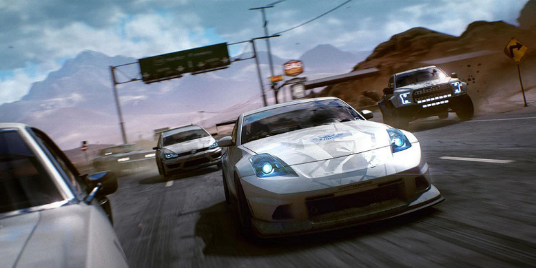In dem Rennspiel Need for Speed Payback geht es in Fortune Valley actionreich zur Sache. Bilderquelle: Electronic Arts