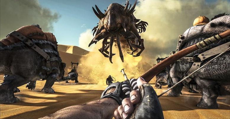 ARK: Survival Evolved DLC Scorched Earth im Gameplay-Trailer. Bilderquelle: Studio Wildcard