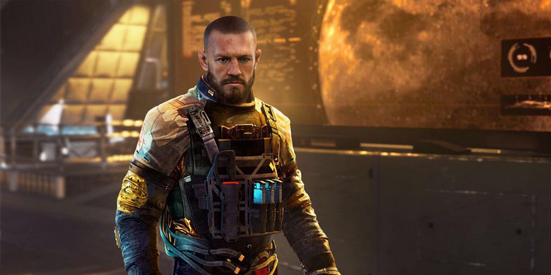 Erster InGame-Screenshot von Connor McGregor in Call of Duty: Infinite Warfare. Bilderquelle: Activision/Twitter
