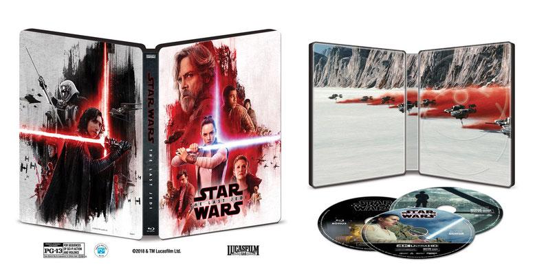 Star Wars: Die letzten Jedi erscheint am 27. März auf Blu-Ray, 4K-UHD-Blu-Ray und DVD in den USA. Etwa einen Monat später dürfte dann die Heimkinofassung in Deutschland in den Handel gelangen. Bilderquelle: Lucasfilm