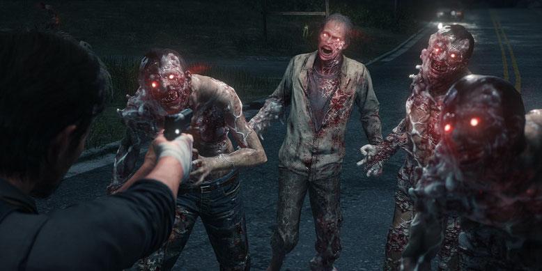 Ein neues Gameplay-Video der Gamescom 2017 zeigt blutige und brutale Spielszenen aus The Evil Within 2. Bild: Bethesda