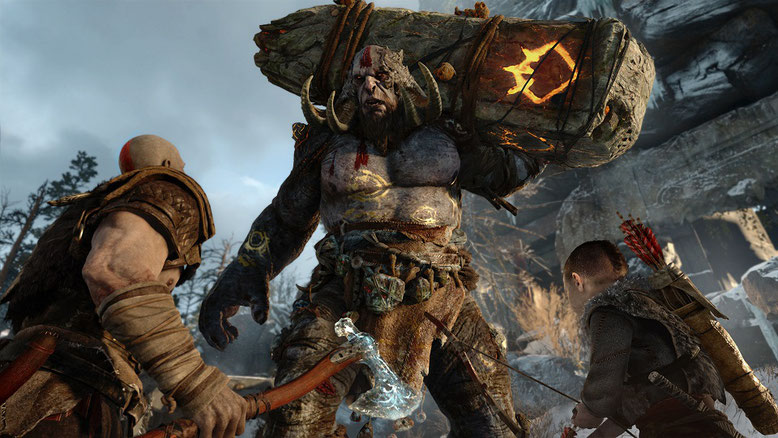 Kratos und Atreus in God of War