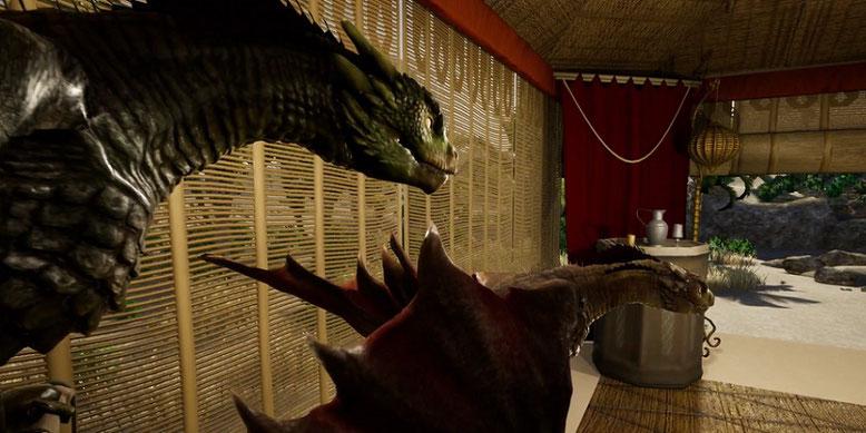 Die Drachen von Daenerys Targaryen aus Game of Thrones im Unreal Engine 4-Video. Bilderquelle: YouTube/Eximious94