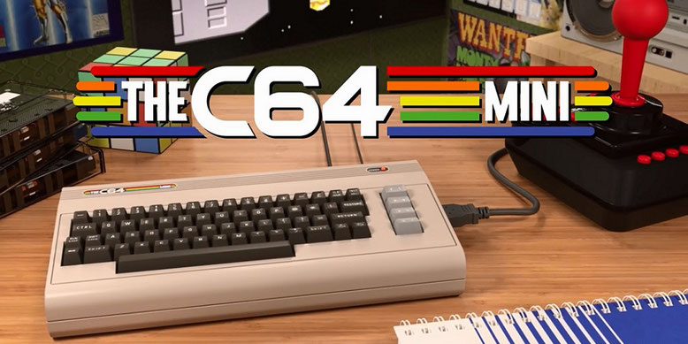 Nostalgie pur: Der C64 Mini erscheint samt 64 Spieleklassikern Anfang 2018 über Koch Media im Handel.