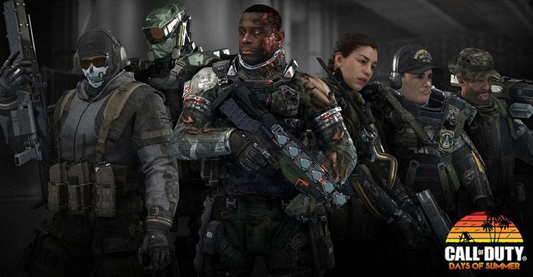 Aktion Days of Summer für Call of Duty  Infinite Warfare,  Modern Warfare Remastered und Black Ops 3 gestartet.