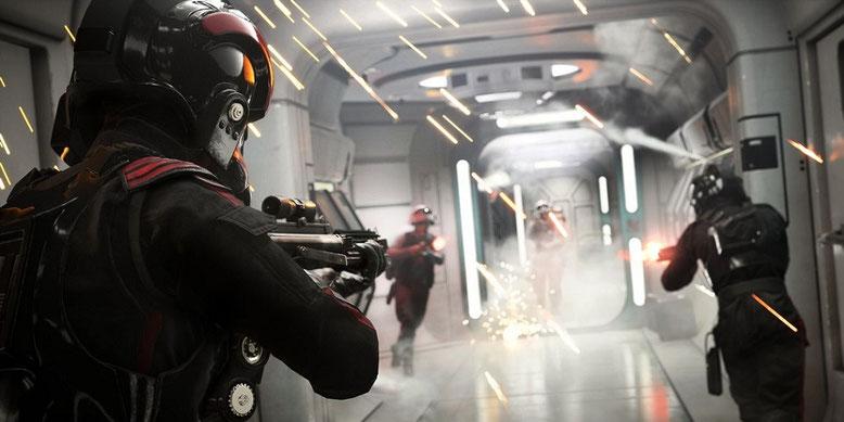 Der offene Beta-Test von Star Wars Battlefront 2 lässt viele Spieler in die Multiplayer-Schlachten ziehen. Bild: Electronic Arts