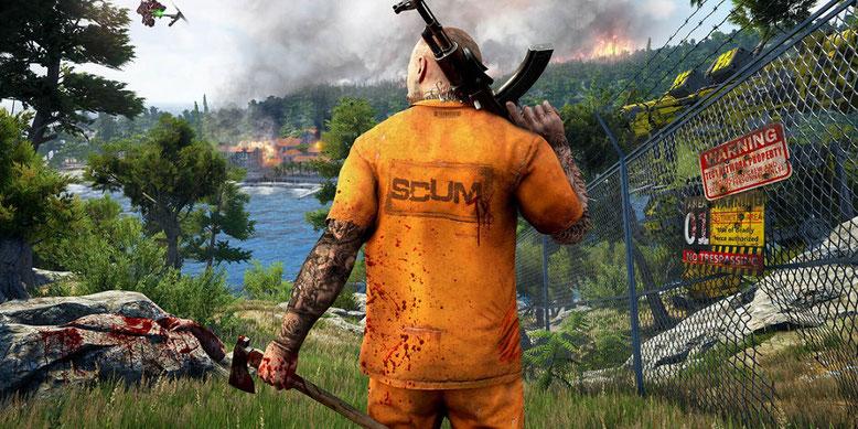 Der Online-Survival-Titel Scum zeigt sich im neuen Video. Bilderquelle: Devolver Digital