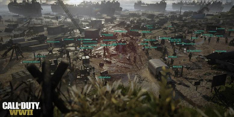Das Headquarter in Call of Duty WW2 versprüht erstmals etwas Online-Rollenspiel-Atmosphäre. Bilderquelle: Activision