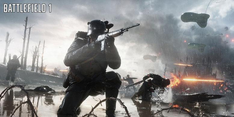 Die verrückten Jäger tummeln sich erstmals zusammen auf dem Battlefield-Schlachtfeld. Bilderquelle: Electronic Arts