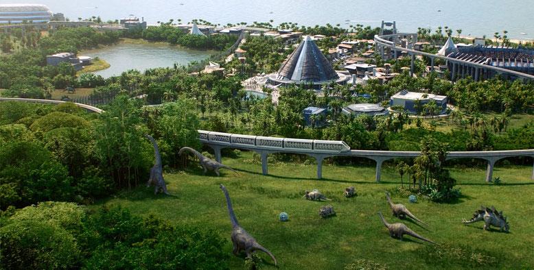 Mit Jurassic World Evolution erstellt ihr euren eigenen Dino-Park samt Attraktionen und Urzeitbewohnern. Bild: Microsoft