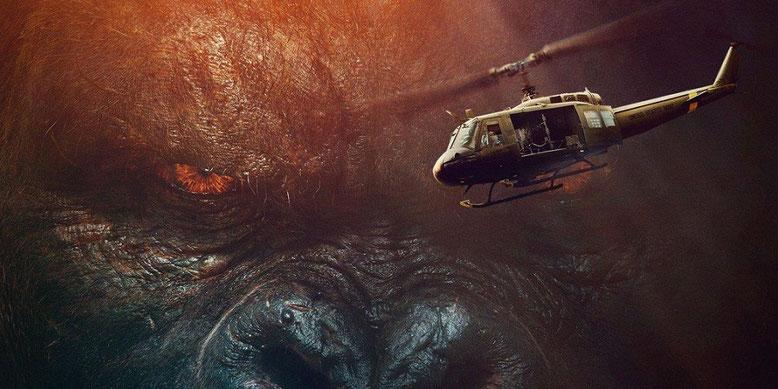 Monster-Battle: Im neuen Video-Clip zum Kinofilm Kong: Skull Island kracht es gewaltig. Bilderquelle: Warner Bros. Pictures