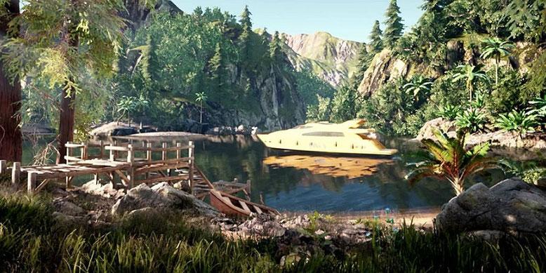 In dem Open-World-Game AQP City auf Basis der Unreal Engine 4 gibt es nicht nur Großstädte zu erkunden. Bilderquelle: Chevarria Arts