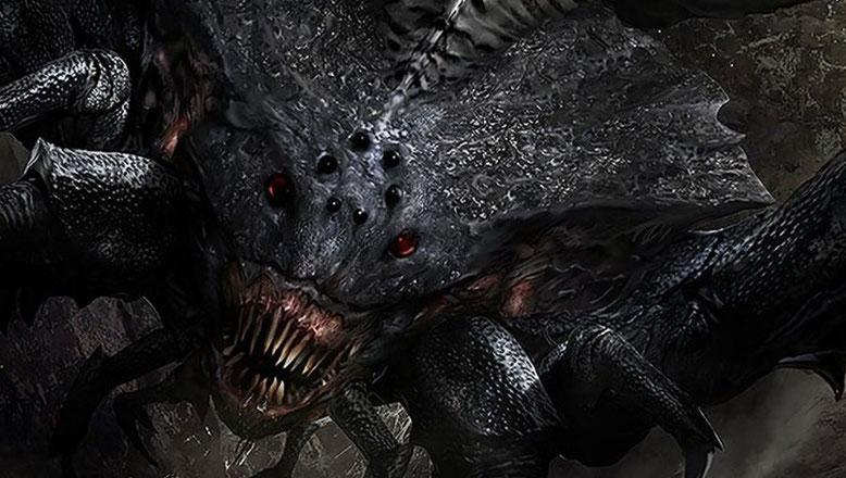 Die Monster-Spinne Shelob zeigt sich im neuen Comic-Con Trailer zu Mittelerde: Schatten des Krieges. Bild: Warner Bros.