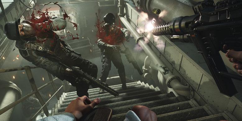 Im neuen Angespielt-Video zu Wolfenstein 2: The New Colossus geht es mitunter blutig zur Sache. Bild: Bethesda Softworks