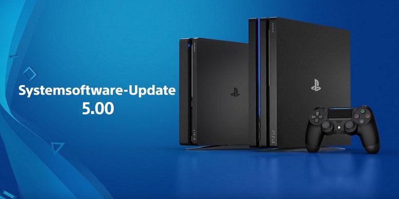 Das große Systemsoftware-Update 5.0 für die PS4 ist ab sofort als Download erhältlich. Bilderquelle: Sony