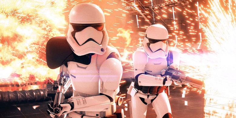 Die Arbeiten an Star Wars Battlefront 2 sind für beendet erklärt, der Shooter hat den Goldstatus erreicht. Bild: Electronic Arts