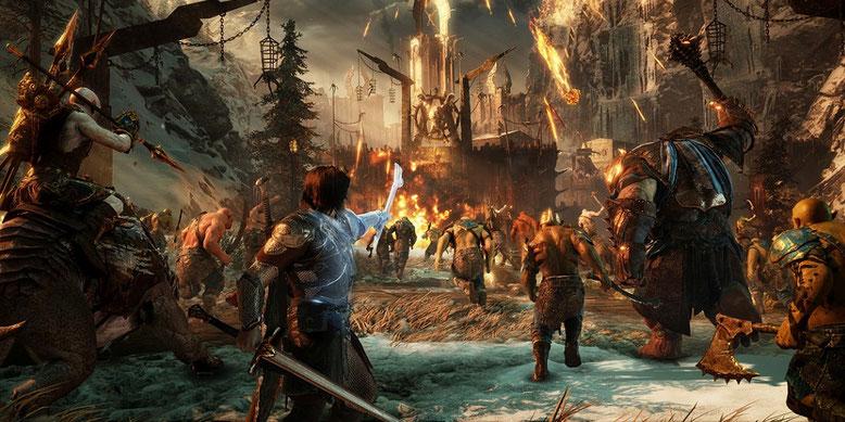 Ein neues Gameplay-Video zu Mittelerde: Schatten des Krieges zeigt Minas Ithil. Bilderquelle: Warner Bros. Interactive