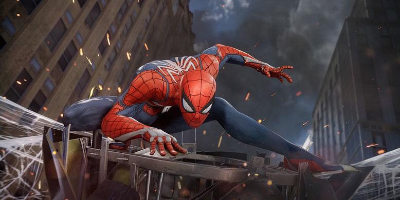 Der PS4-Exklusivtitel Spider-Man von Insomniac Games im ersten Gameplay-Video der E3 2017. Bilderquelle: Marvel
