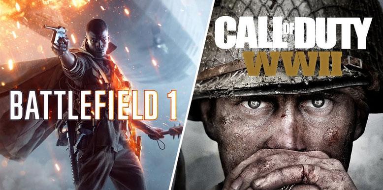 Grafikvergleich mit Battlefield 1 und Call of Duty WW2 im neuen Video präsentiert. Bild: Electronic Arts/Activision