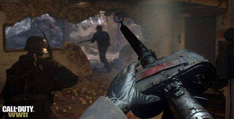 Der Kriegsmodus von Call of Duty WW2 rückt im Gameplay-Video der E3 2017 in den Vordergrund. Bilderquelle: Activision