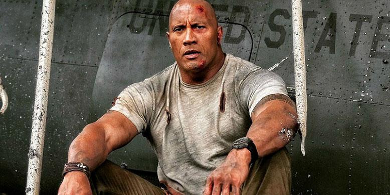 """In dem kommenden Kinofilm Rampage spielt Dwayne """"The Rock"""" Johnson als Primatenforscher Davis Okoye die Hauptrolle. Bilderquelle: Warner Bros. Pictures"""