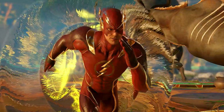 The Flash im neuen Gameplay-Trailer zu Injustice 2 präsentiert. Bilderquelle: Warner Bros. Interactive Entertainment