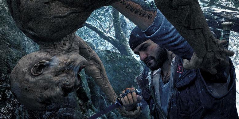 Die Zombie-Apokalypse Days Gone zeigt sich im erweiterten Gameplay-Video der E3 2017. Bilderquelle: Sony Bend Studio