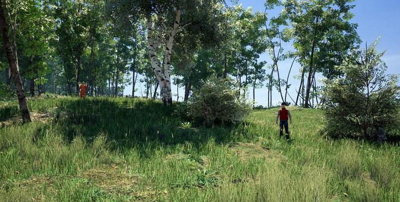 Fast unsichtbar: Die Tarnkleidung im Open-World-Survival-Spiel Scum. Bilderquelle: Devolver Digital