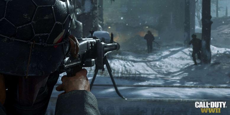 Alle Waffen in Call of Duty WW2 aus dem Zweiten Weltkrieg im neuen Video der E3 2017. Bilderquelle: Activision